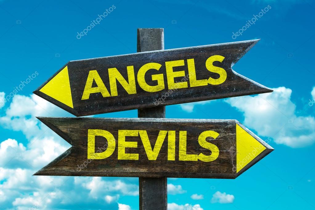 Angels - Devils signpost