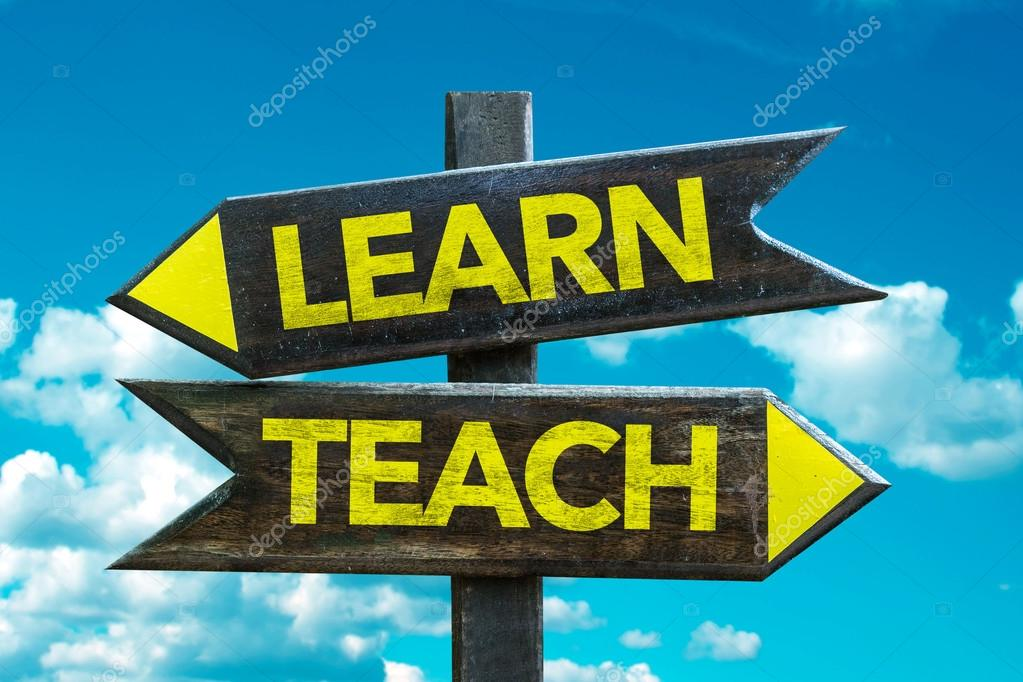 Learn - Teach signpost