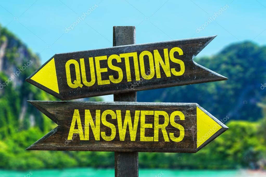 Questions Answers signpost