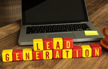 Lead Generation written on cubes