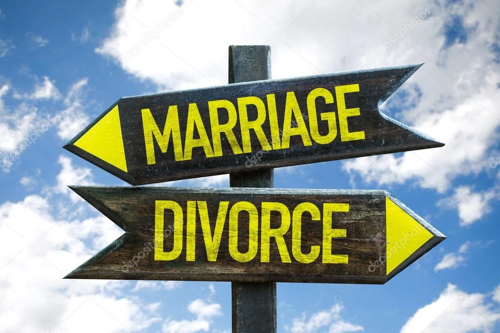Marriage - Divorce signpost