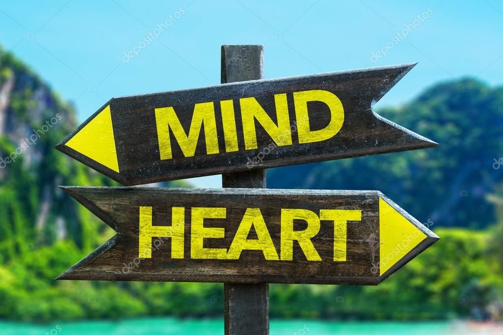 Mind - Heart signpost
