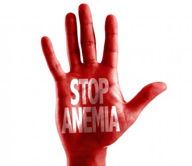 Stop Anemia written on hand