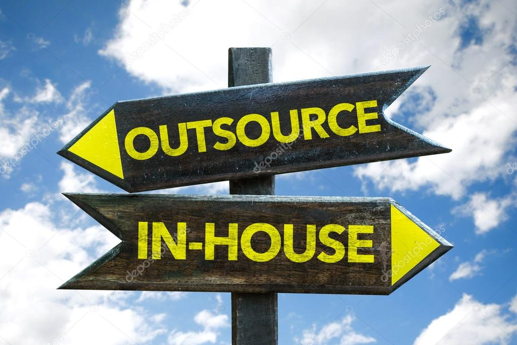 Outsource - In-House signpost