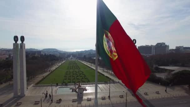 Lisszabon portugál integetett zászló