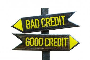 Good Credit - Bad Credit signpost
