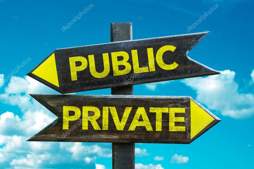 Public - Private signpost