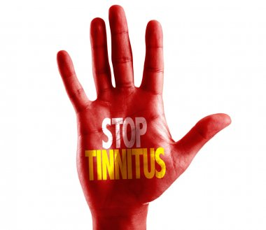 Stop Tinnitus written on hand