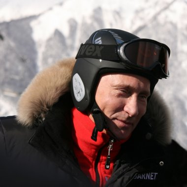Russian President Vladimir Putin skiing