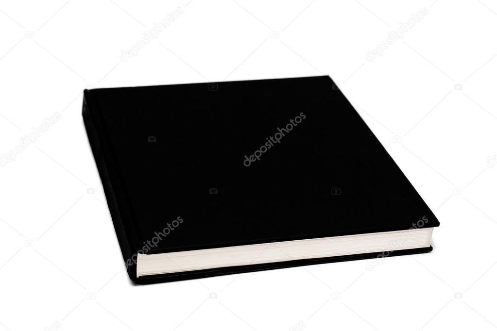 Noir De Couverture De Livre Blanc Isole Sur Blanc