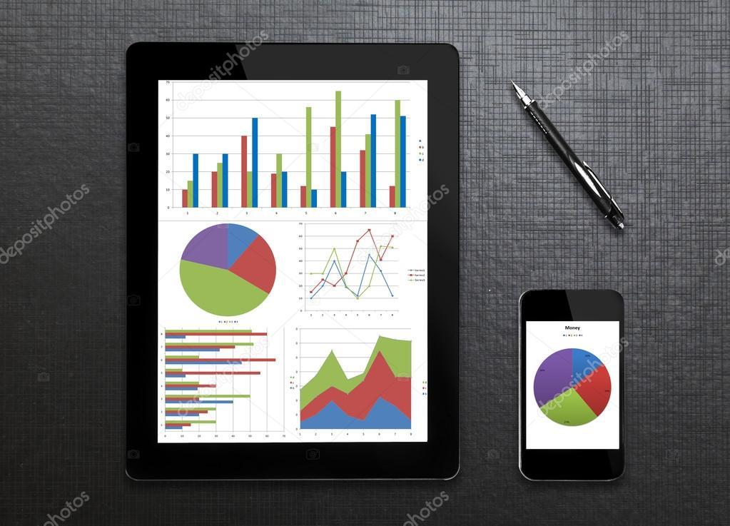 ridurre in pani digitale risultati grafici e schema sullo schermo ...