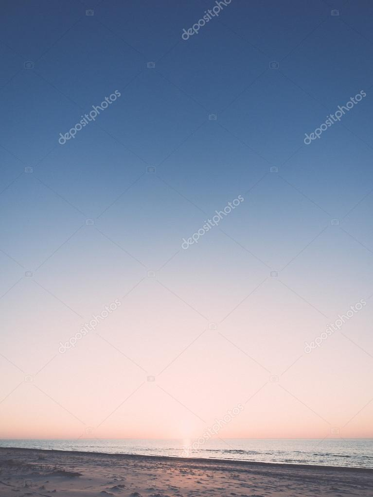 night sky with stars on the beach. space view. - retro, vintage