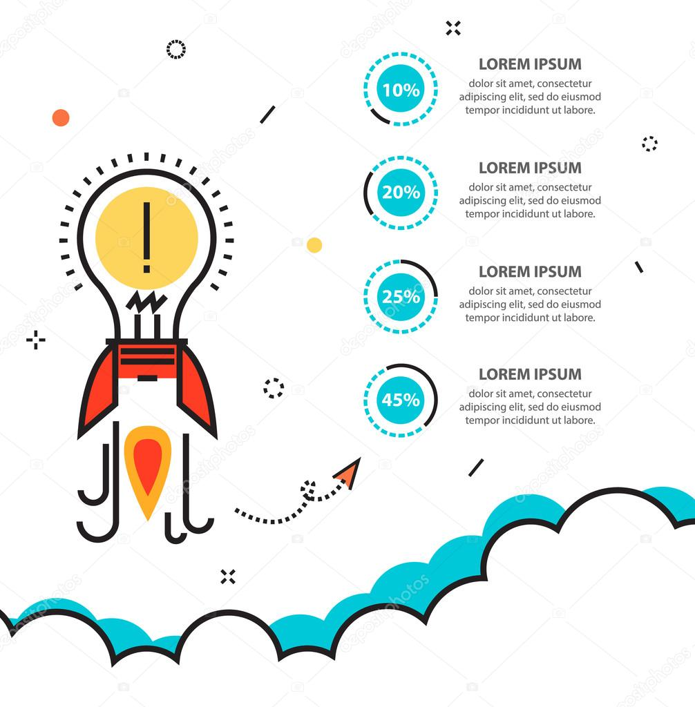Business startup infographic with idea rocket template for cycle business startup infographic with idea rocket template for cycle diagram stock vector cheaphphosting Image collections