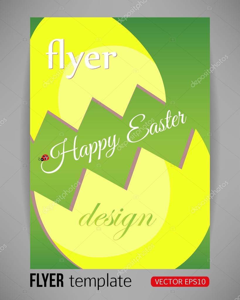 Feliz Pascua vector poster plantilla grande de la explosión de huevo ...