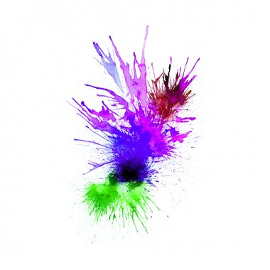 Modern painting - abstract watercolor background - splashes, drops on paper or canvas, vector illustration clip art vector