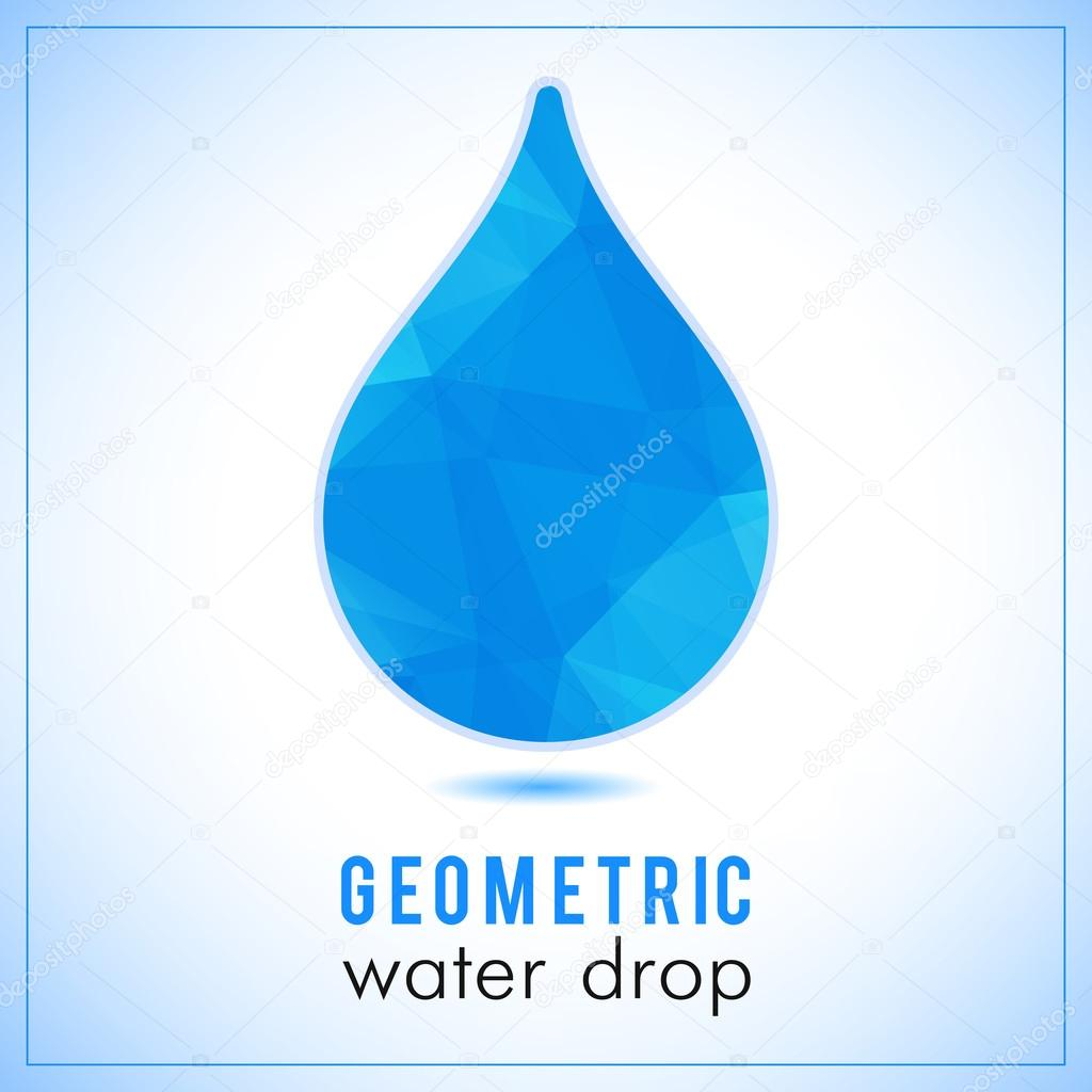 Beautiful blue triangle geometrical water drop logo vector beautiful blue triangle geometrical water drop logo vector polygonal symbol stock vector biocorpaavc Image collections