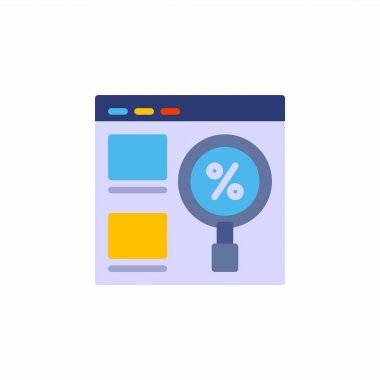 Management discount icon in flat style. Vector icon illustration icon