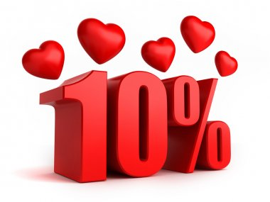 10 percent with hearts