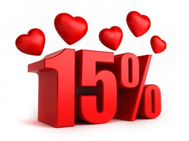 15 percent with hearts