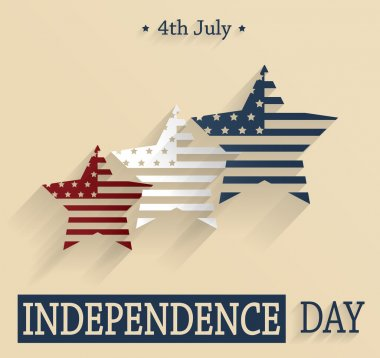 Independence Day. 4th Of July. Red, white and blue stars. Vector illustration.