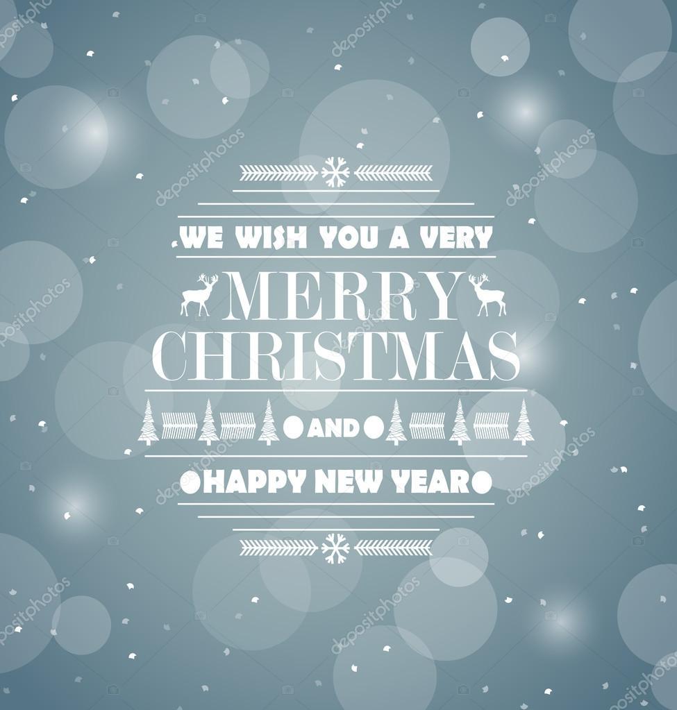 Frohe Weihnachten Retro Entwurf abstrakter Grußkarte. Glückliches ...