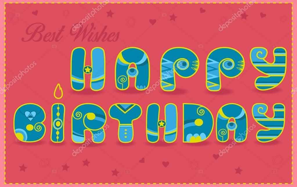 lyckönskningar födelsedag Grattis på födelsedagen. Varmaste lyckönskningar — Stockfotografi  lyckönskningar födelsedag