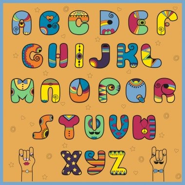 Vector illustration of alphabet