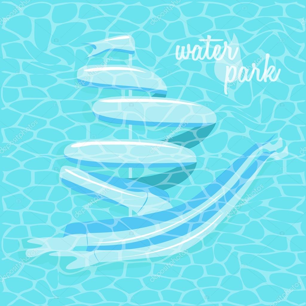 underwater water park. Symbol Underwater Water Park \u2014 Stock Vector
