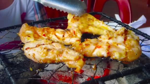 Smažit kuřecí kousky na Grill_50p