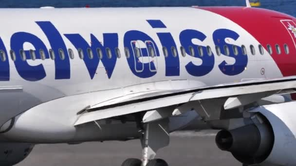 Airbus A320 HB-IHX operated by Edelweiss Air taxiing on Lanzarote airport