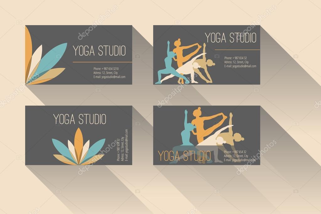 Yoga business card stock vector marisemenova 63116851 yoga business card stock vector colourmoves
