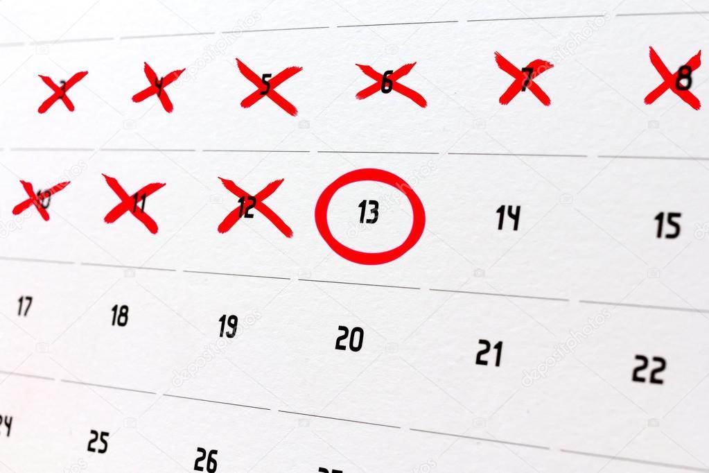 Calendario Conto Alla Rovescia.Conto Alla Rovescia I Giorni In Un Calendario Foto Stock