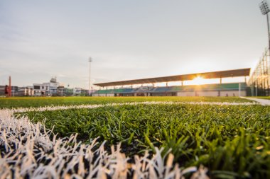 Soccer artificial turf pattern and stadium