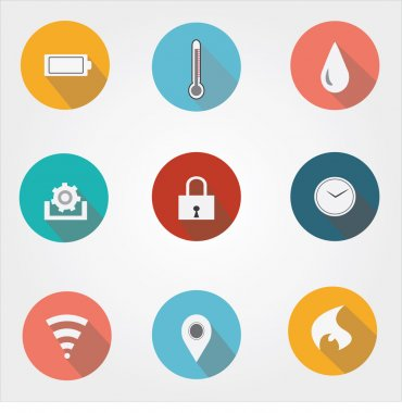 Feature ,specification icons for industries, companies,business