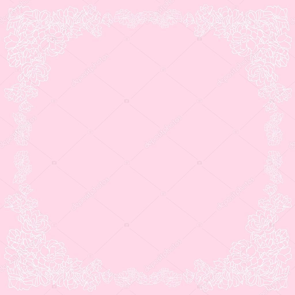 Einladung Oder Hochzeit Karte Mit Blumen Hintergrund Und Eleganten Floralen  Elemente U2014 Stockvektor