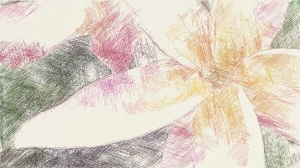 művészet rajz színe plumeria virág háttér