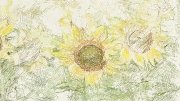 művészet rajz színe napraforgó a természetben kert