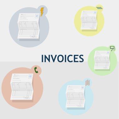 All household bills on paper