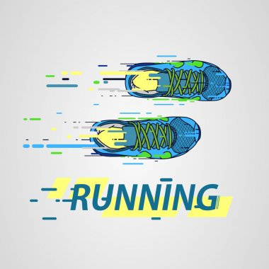Logo athletics running club