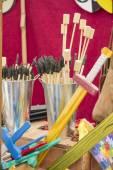 Fotografie Holzspielzeug auf der Messe