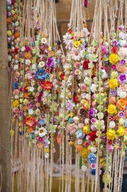 Handmade wreaths of flowers
