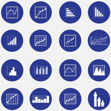 Infographic elements. Graphs, pie charts. Items for business, statistics and reports,