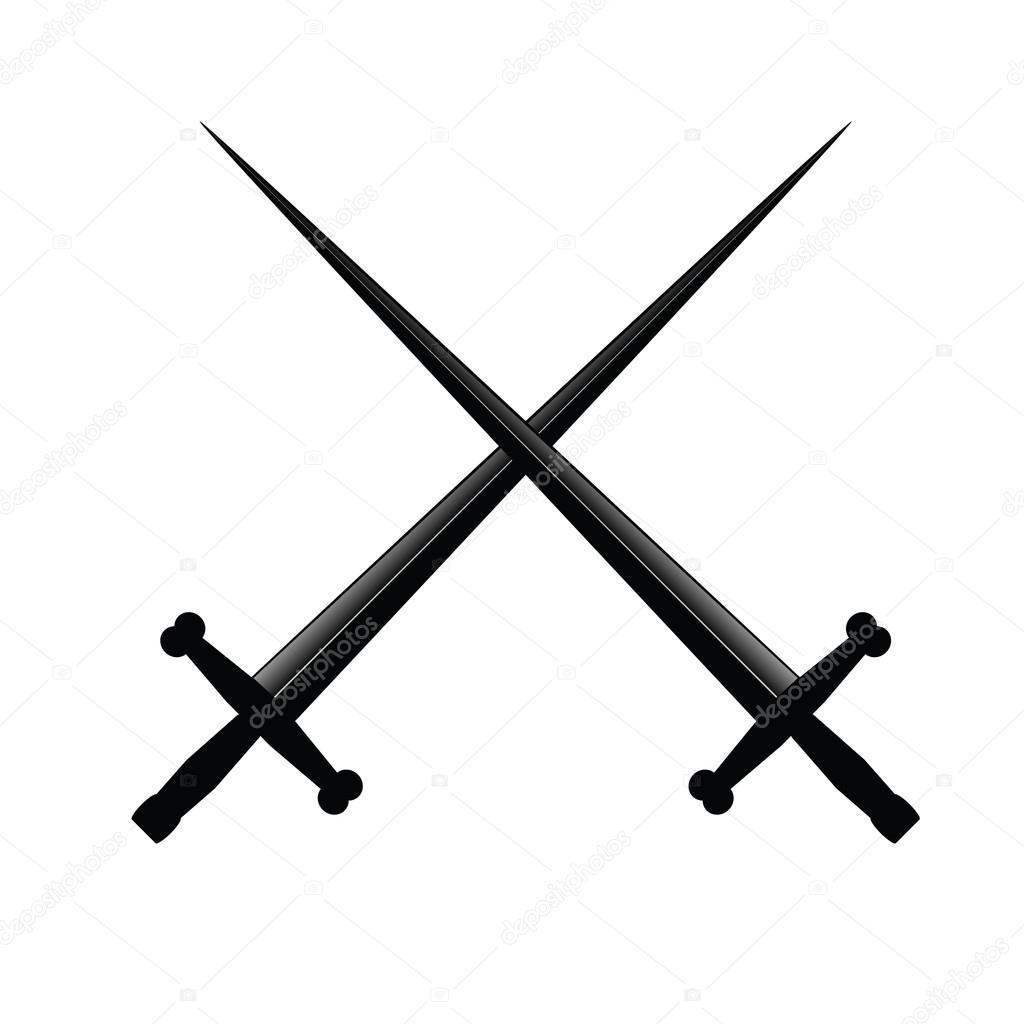 Sword two vector illustration