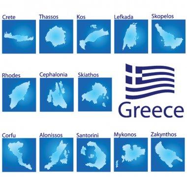 island map on Greece vector illustration