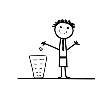 do not litter sign vector illustration