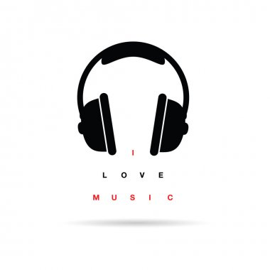headphones icon with message vector illustration