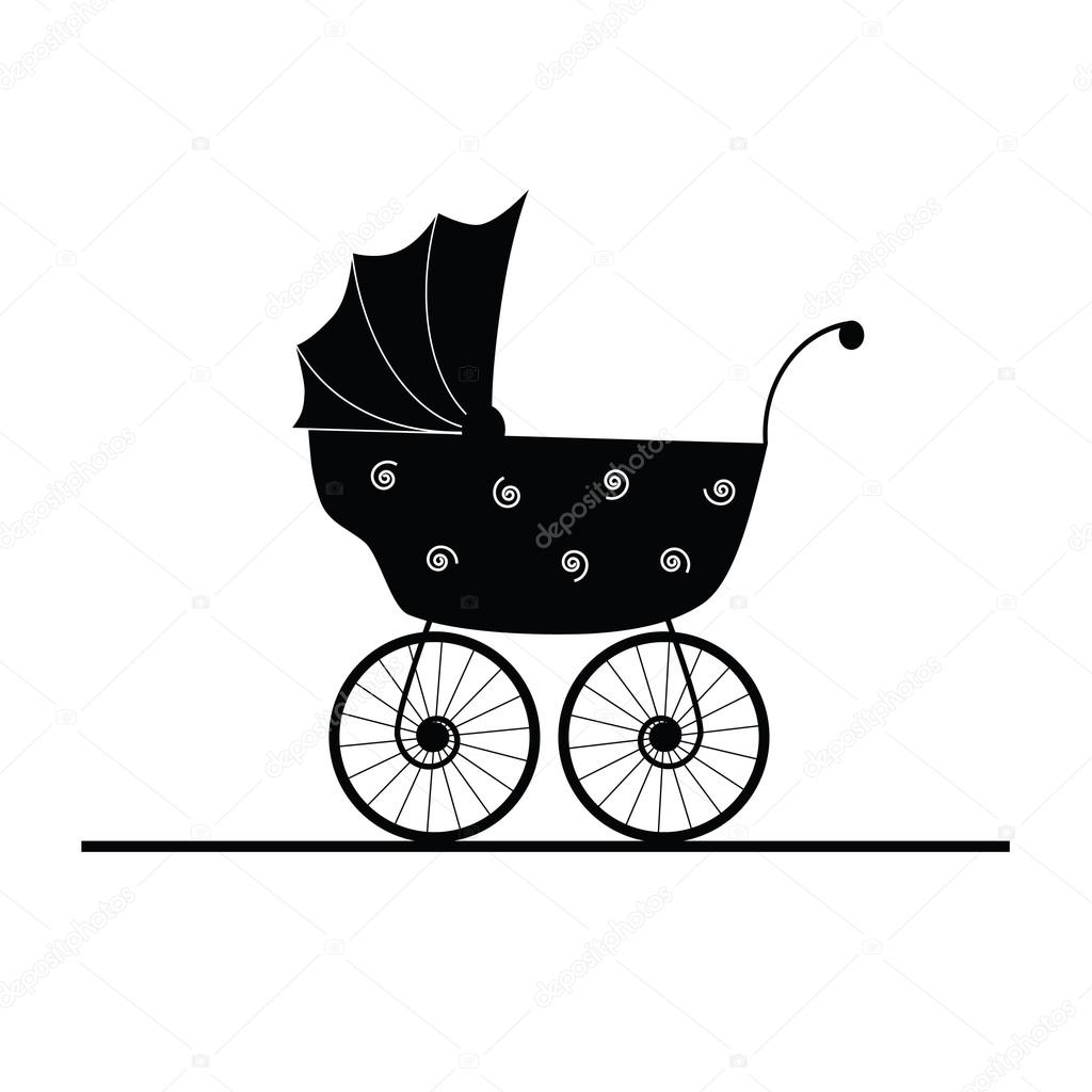 Baby Stroller Cartoon Vector Stock Vector