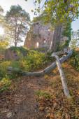 Heiligenstein, Frankreich - 09 01 2020: Blick auf die Burgruine Landsberg