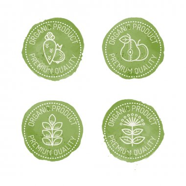 Food Badges for organic products.