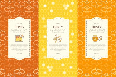 Vector design layouts - natural honey collection